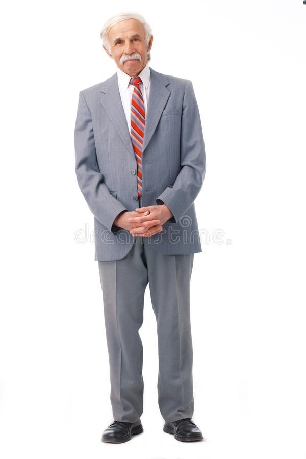 Download Elderly man standing. stock image. Image of male, success - 14366849