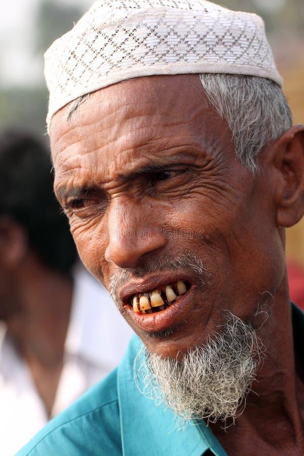 Elderly people smiling