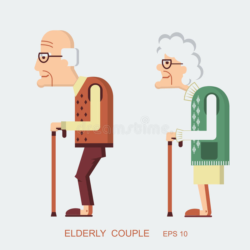 Elderly people royalty free illustration