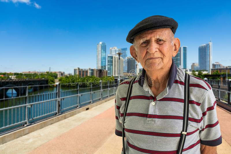 Elderly Man Outdoors stock images