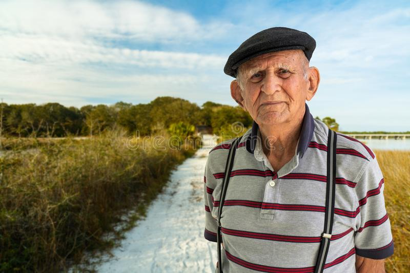 Elderly Man Outdoors stock photography