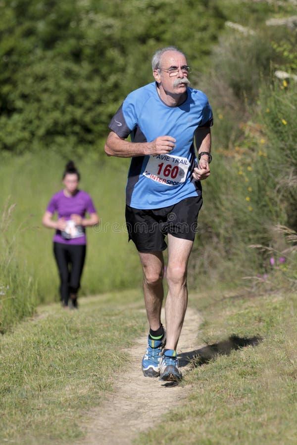 Elderly runner. stock images