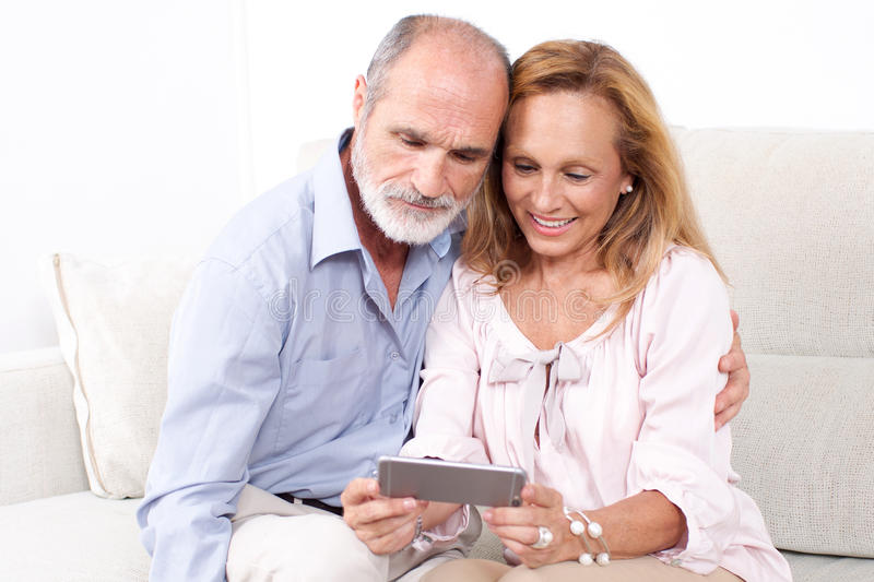 Elderly senior couple l stock photography