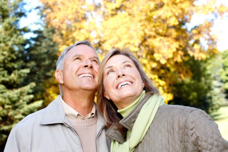 Elderly seniors couple stock image