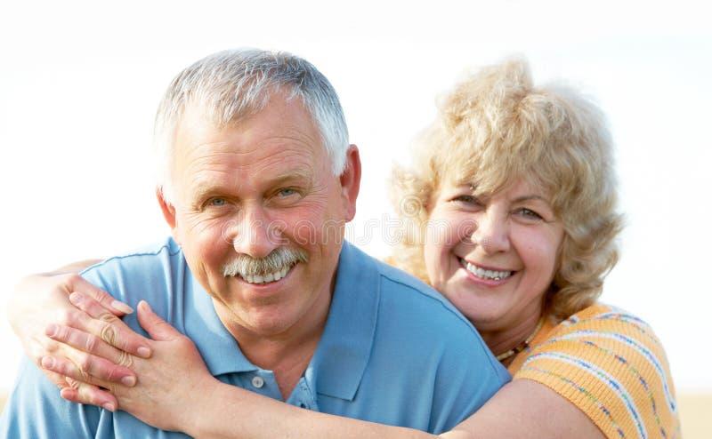 Elderly seniors couple stock photo