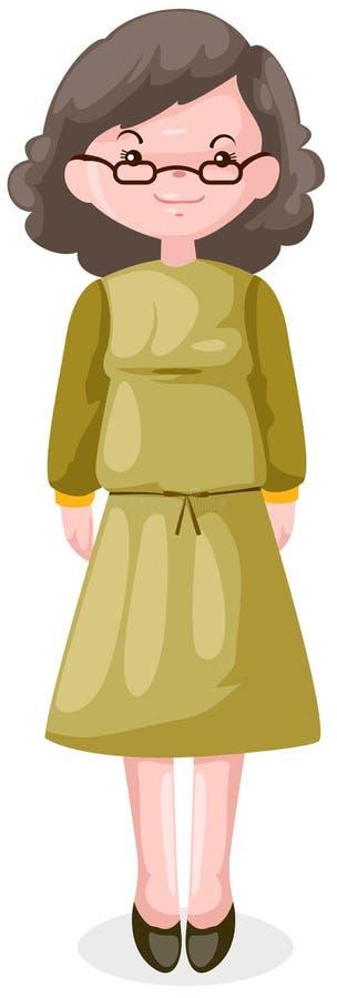 Elderly woman vector illustration