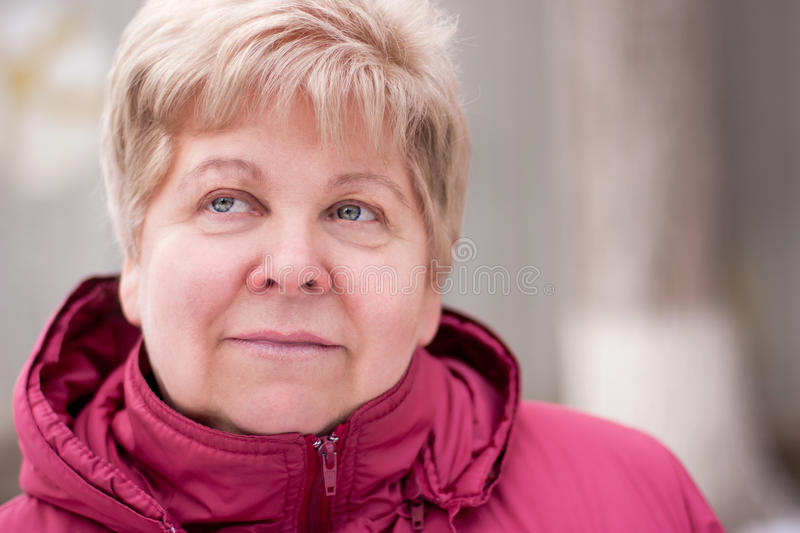Download An elderly woman stock image. Image of lips, smile, calm - 23875573