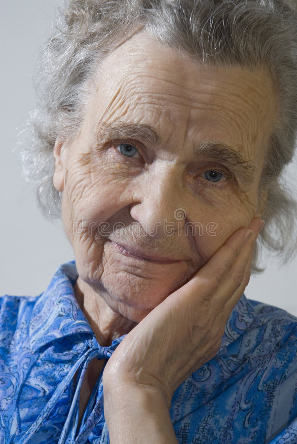 Elderly woman stock photography