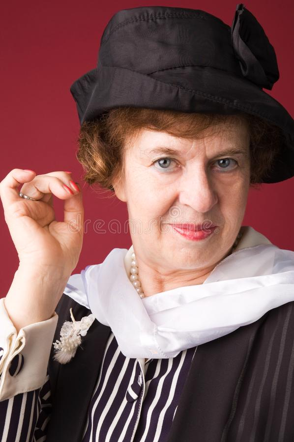The elderly woman. royalty free stock photo