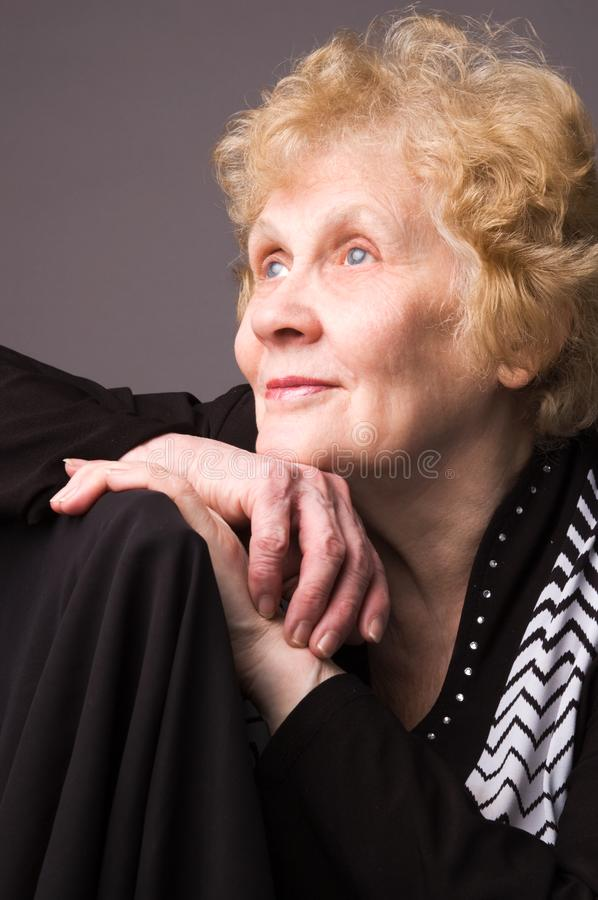 The elderly woman. royalty free stock image