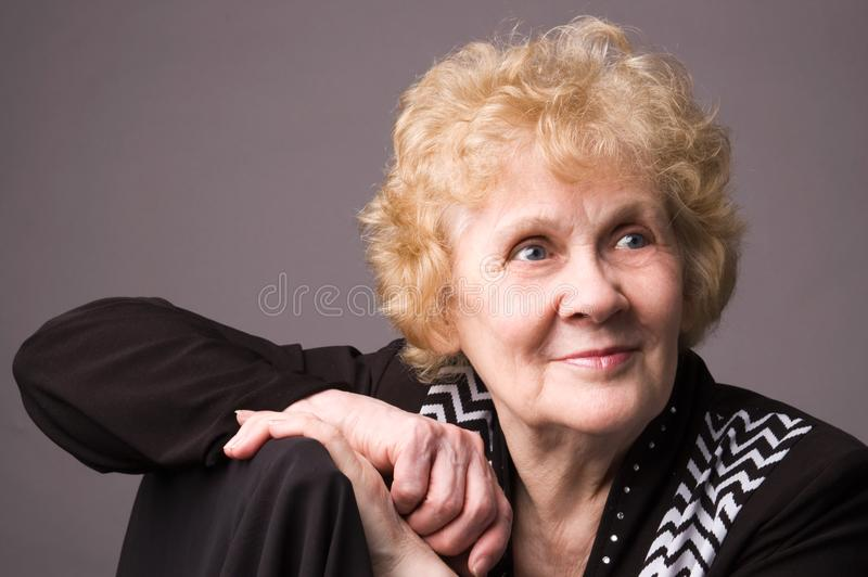 The elderly woman. royalty free stock photography