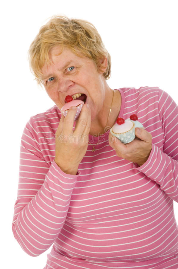 Download Elderly woman is eating stock photo. Image of senior, eating - 7578666