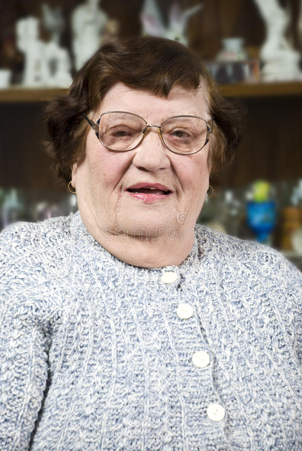 Download Elderly Woman With Glasses Royalty Free Stock Photography - Image: 12929227