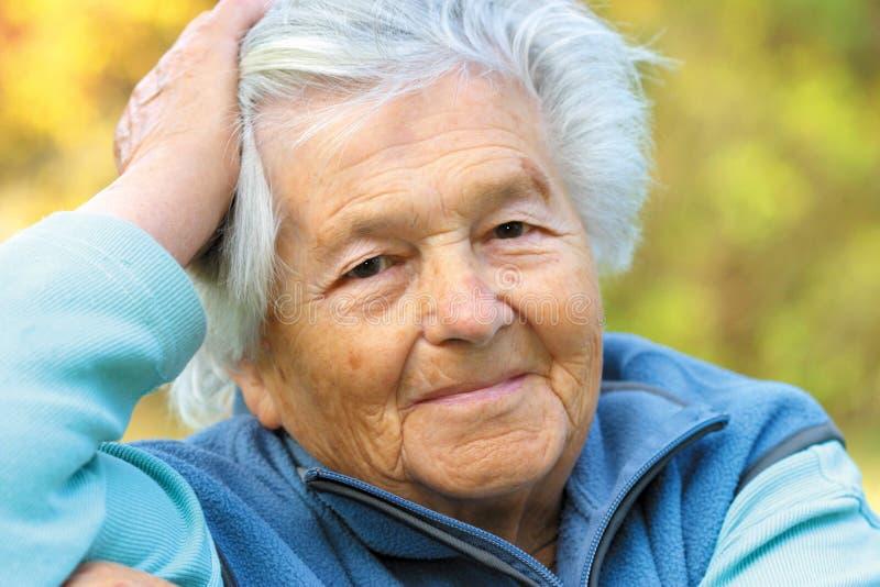 Elderly woman - portrait royalty free stock image