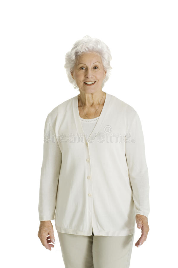 Elderly woman smiling royalty free stock image