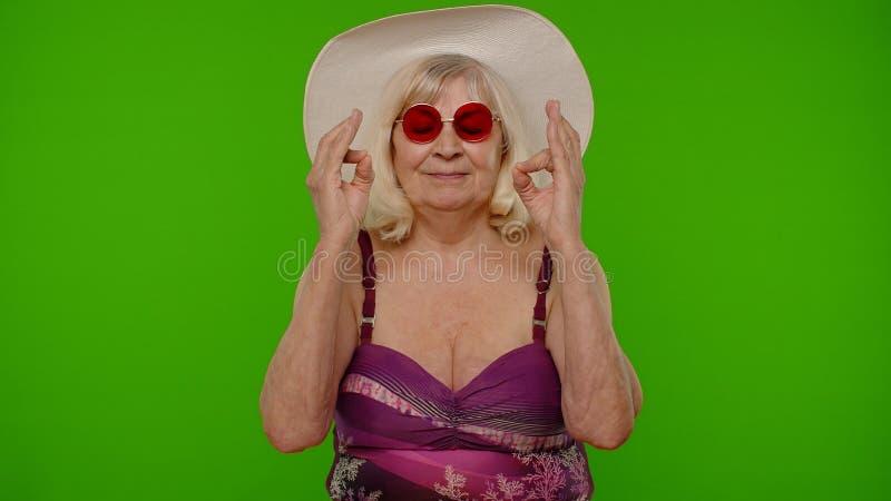 Swimsuit granny Bikini