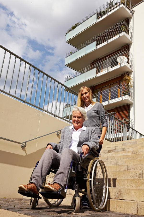 Download Elderly Woman In Wheelchair Stock Image - Image: 17019383