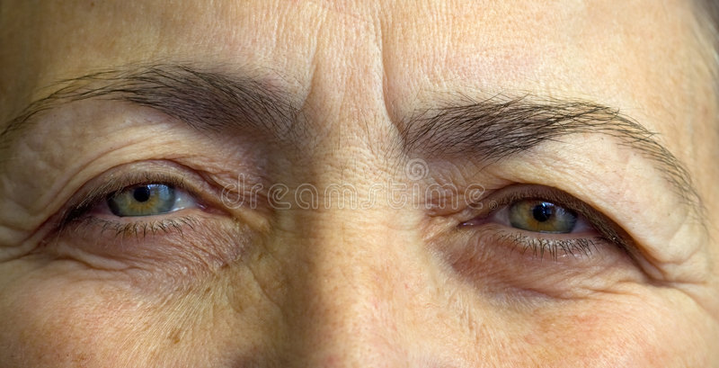 Download Elderly womans eyes stock photo. Image of watching, people - 7634000