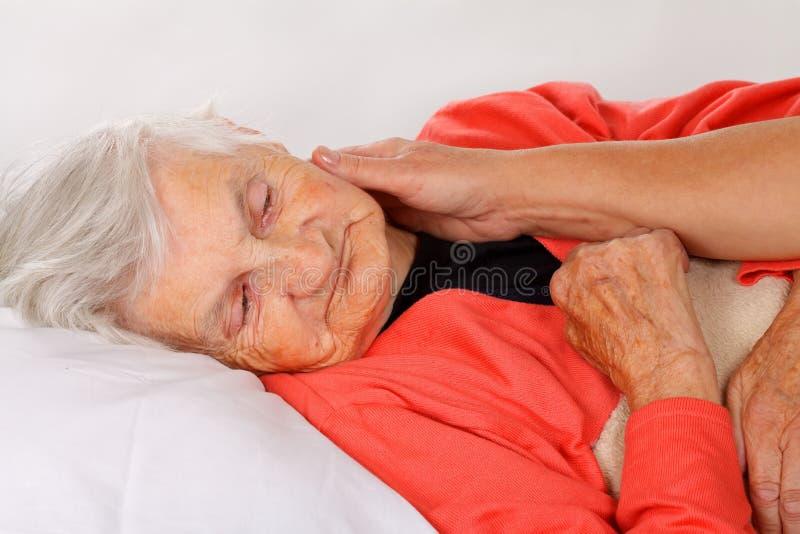 Eldery domowa opieka zdjęcie stock