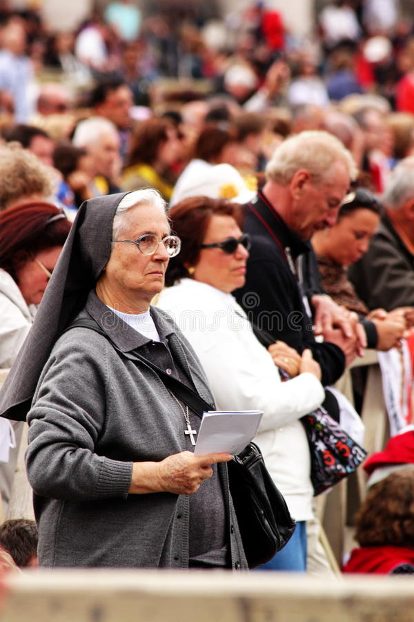 Eldery nun stock photography