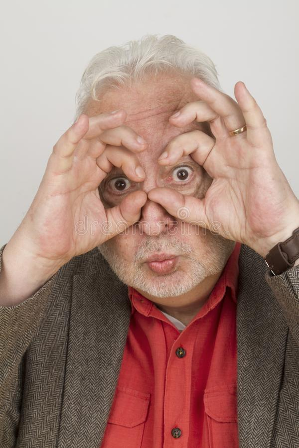 Eldery person focussing the future royalty free stock photography