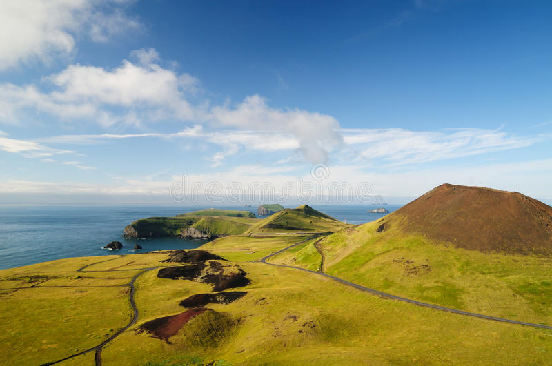 Eldfell Volcano. Volcano on Iceland`s Island royalty free stock images