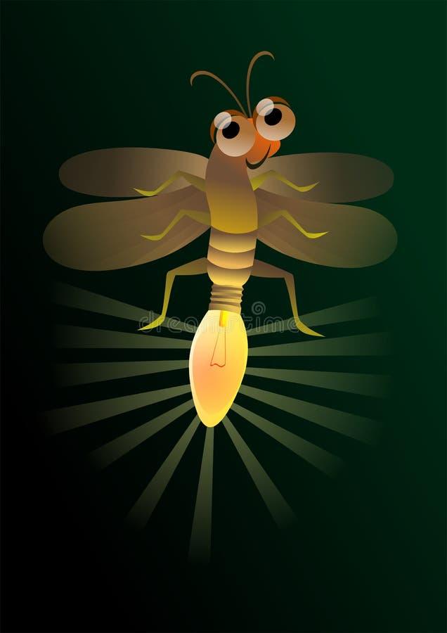 Eldflugaljus stock illustrationer