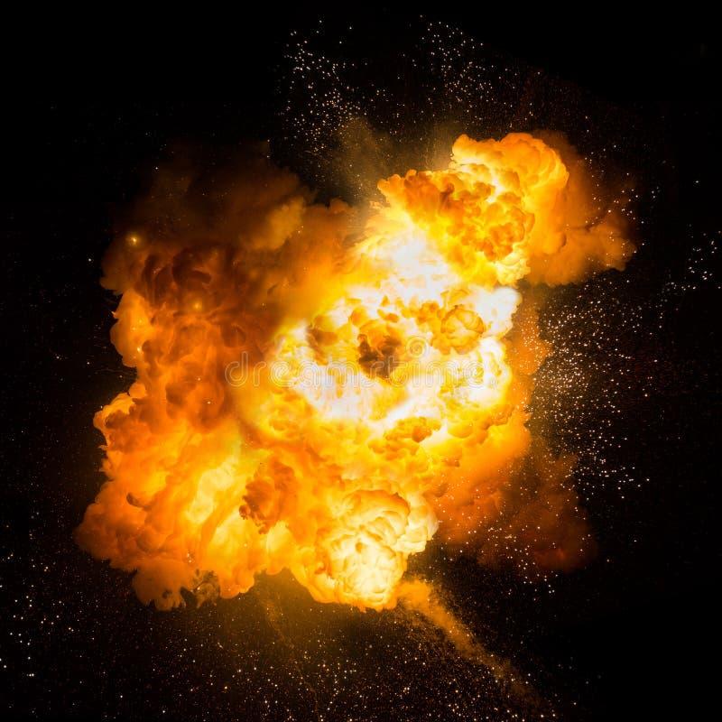 Eldkula: explosion explosion arkivbilder
