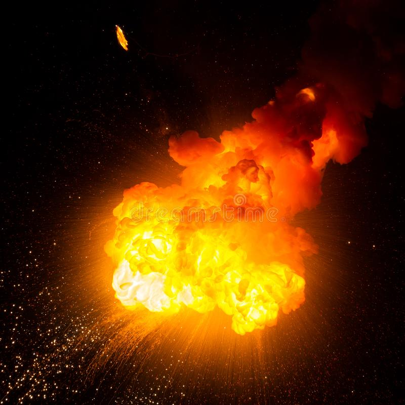 Eldkula: explosion explosion royaltyfria foton