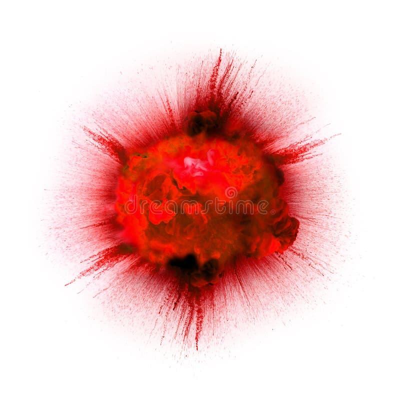 Eldkula: explosion explosion royaltyfri fotografi