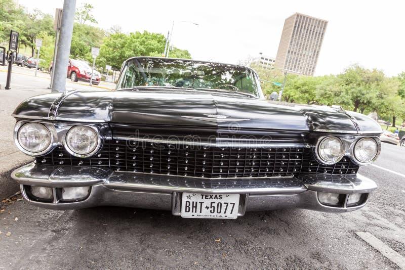 Eldorado preto Sevilha de Cadillac fotografia de stock royalty free