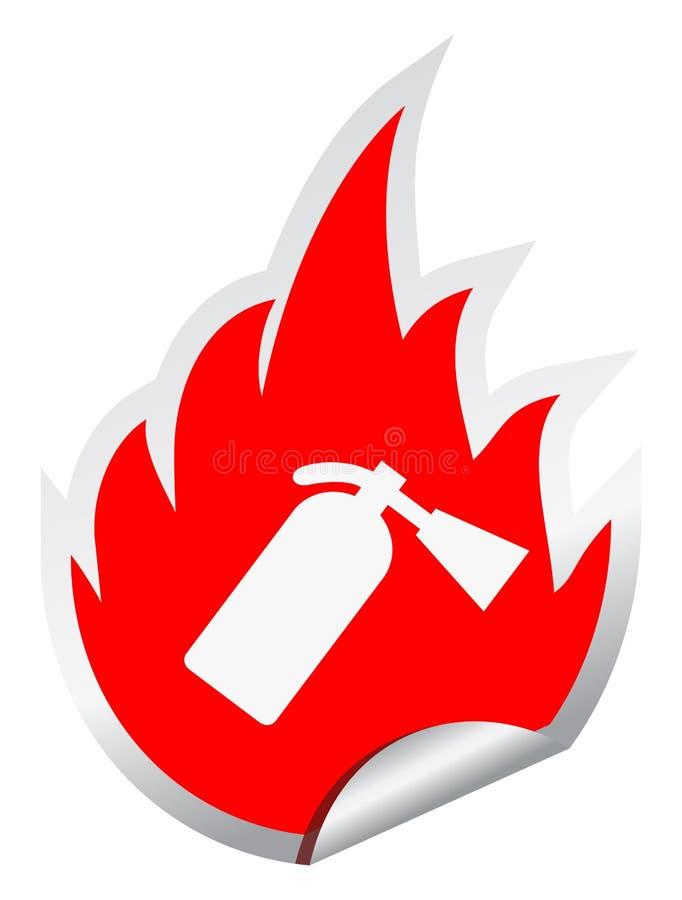 eldsläckarebrand stock illustrationer