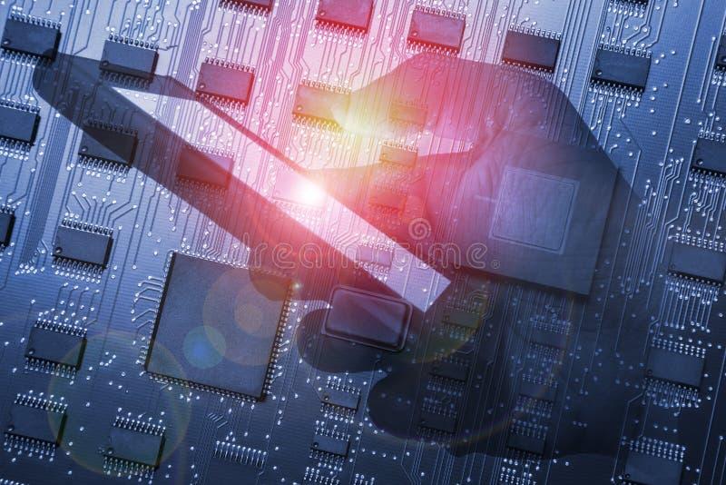 Ele digital da rede de telecomunicação de Smartphone ou do telefone celular imagens de stock