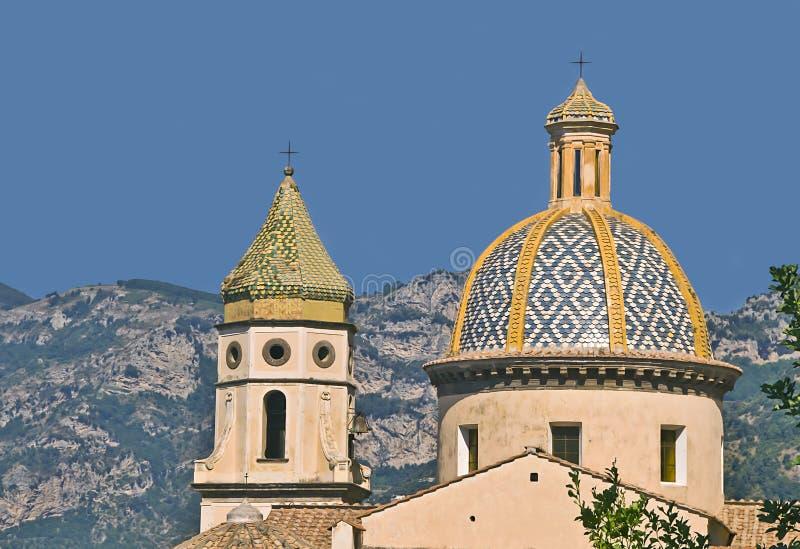 Ele igreja San Gennaro, Praiano, costa de Amalfi, Campania, Itália fotos de stock