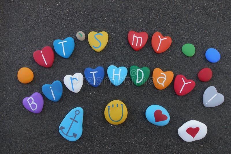 Ele ` s meu aniversário imagens de stock