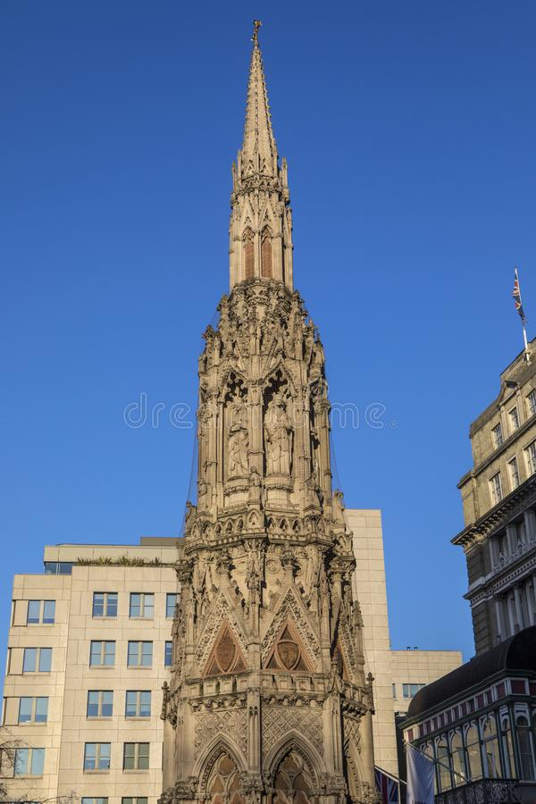 Eleanor Cross in Charing Cross in Londen stock afbeeldingen
