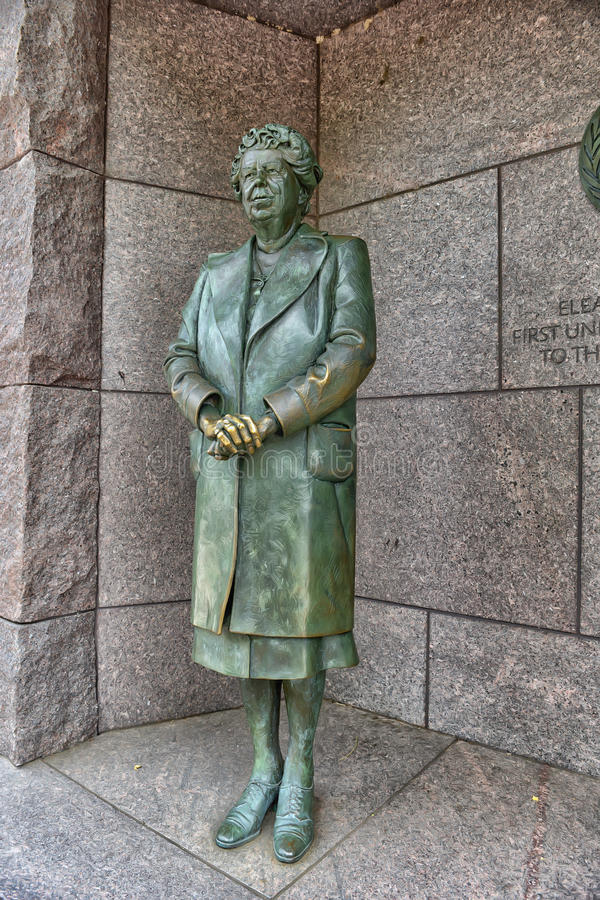 Eleanor Roosevelt zabytku washington dc obrazy stock