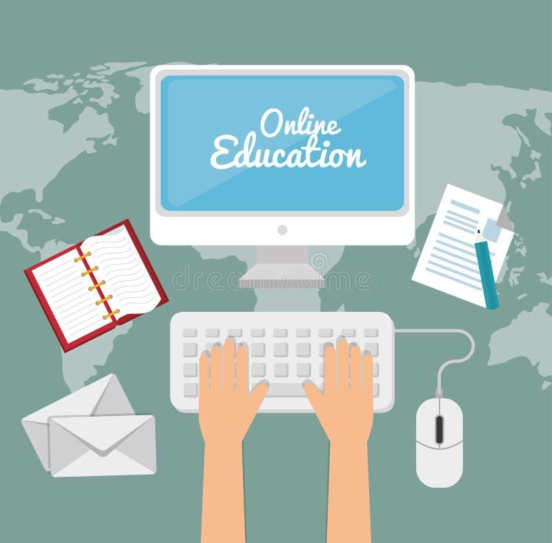 ELearning en onderwijs stock illustratie