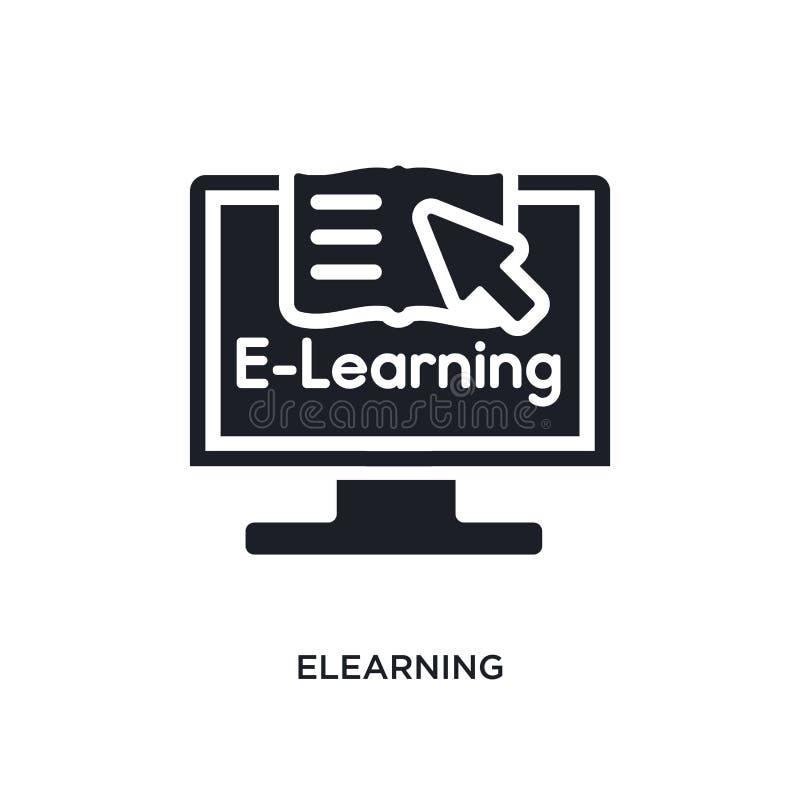 elearning geïsoleerd pictogram eenvoudige elementenillustratie van e-lerend conceptenpictogrammen elearning editable het symboolo royalty-vrije illustratie