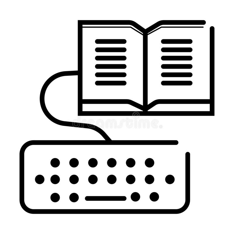 ELearning icon vector stock illustration