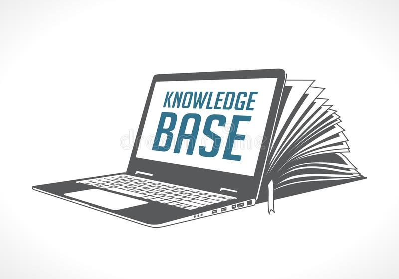 Elearning logo - ebook, e-learning and knowledge base. Concept royalty free illustration