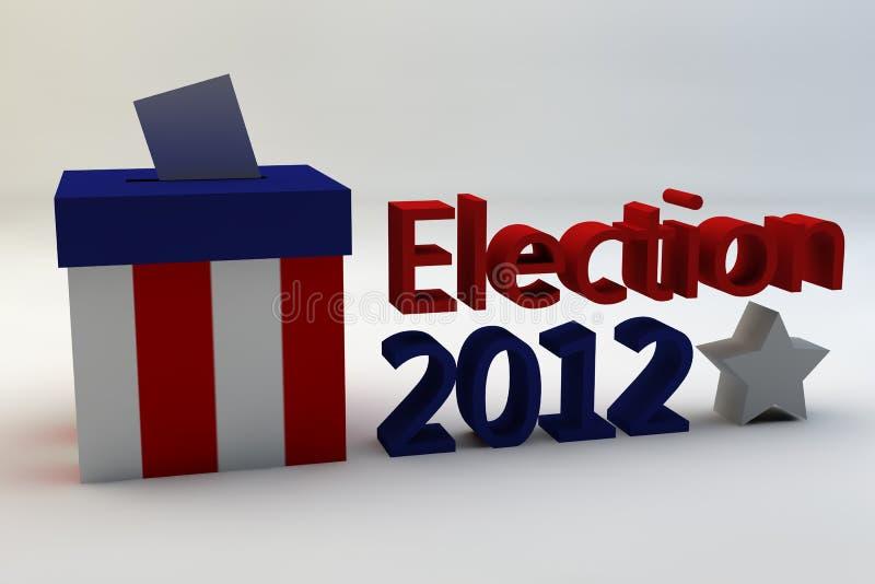 Elección 2012 ilustración del vector