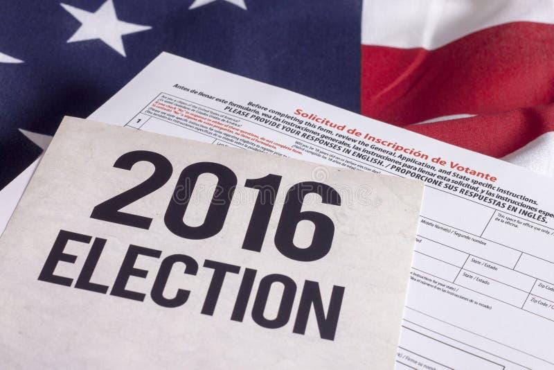 Elección 2016 imagen de archivo
