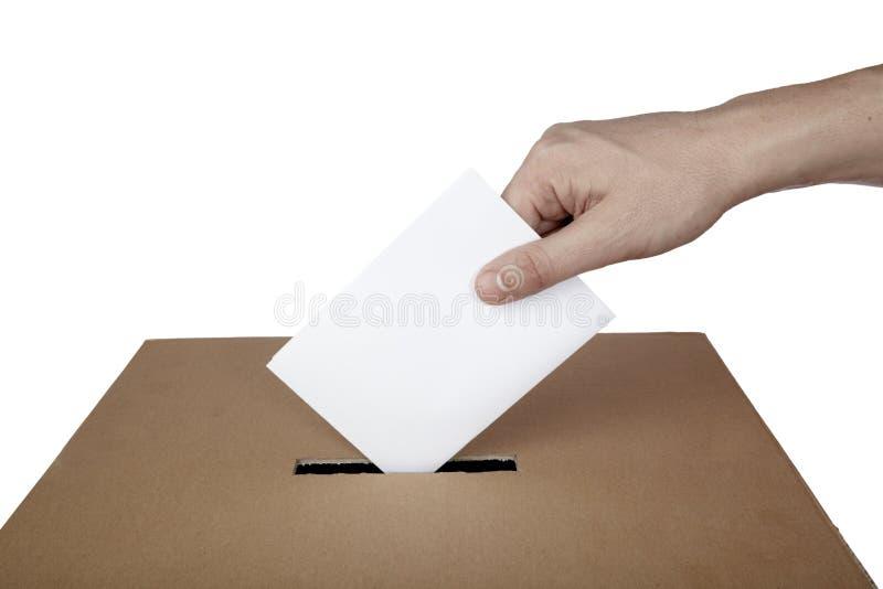 Elección de la opción de la política del rectángulo del voto de la votación de balota foto de archivo