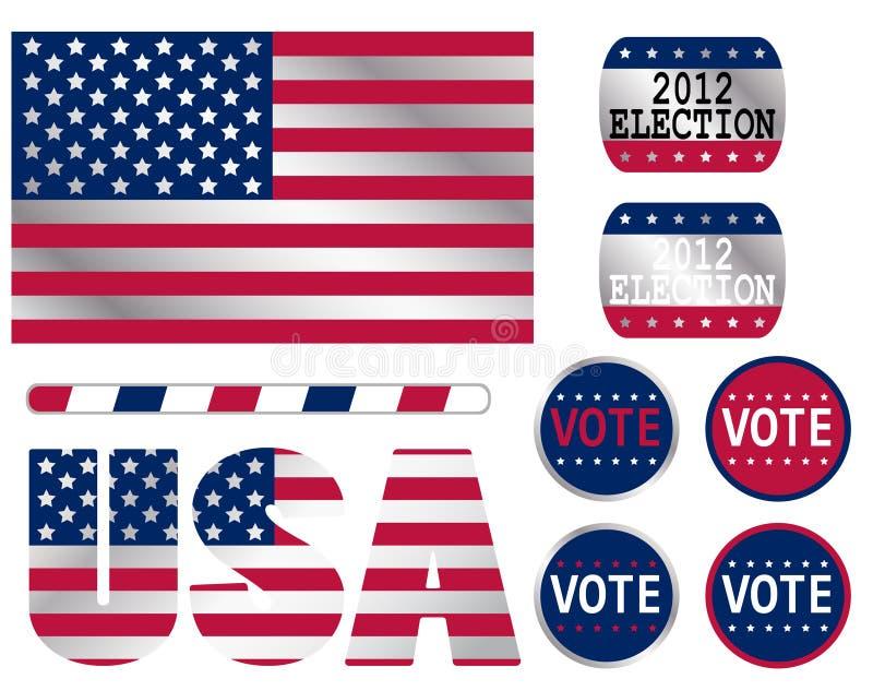Elección de los E.E.U.U. stock de ilustración