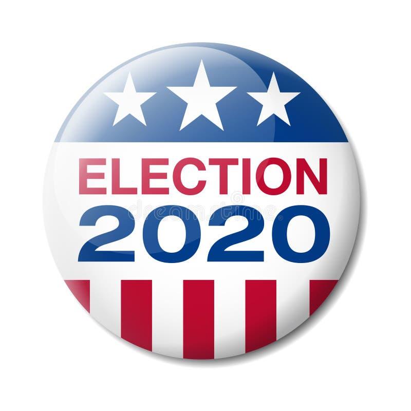 Elección 2020 de los E.E.U.U. de la insignia stock de ilustración