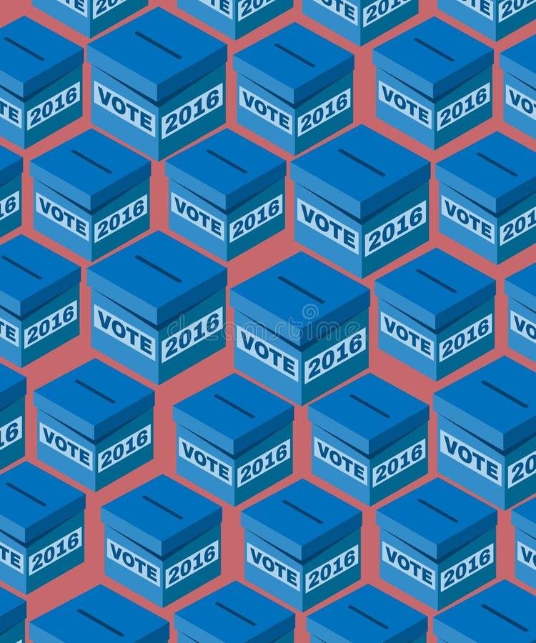 Elección de votación 2016 de los E.E.U.U. de la caja ilustración del vector