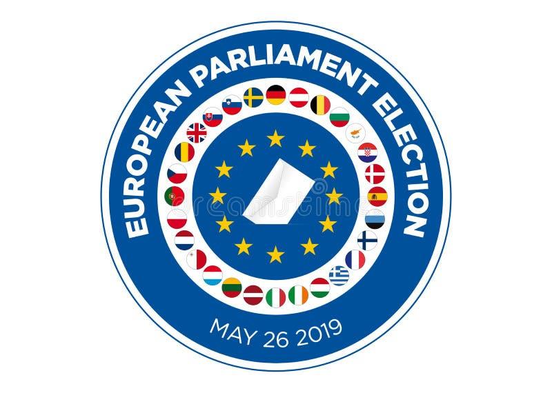 Elección del Parlamento Europeo 2019 ilustración del vector