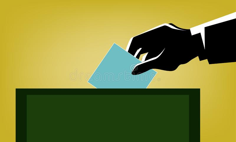Elección en Tailandia stock de ilustración