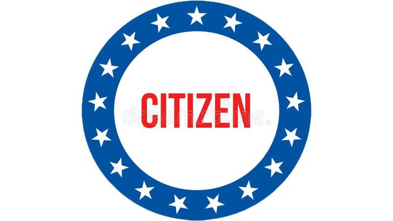 Elección en un fondo de los E.E.U.U., del ciudadano representación 3D Bandera de los Estados Unidos de América que agita en el vi libre illustration